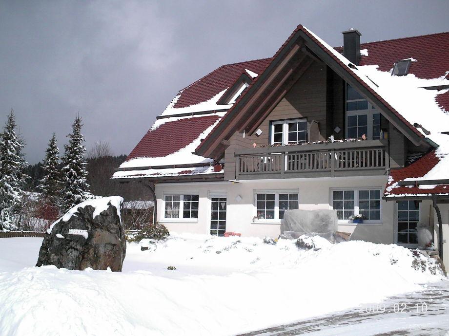 Außenansicht im Schnee
