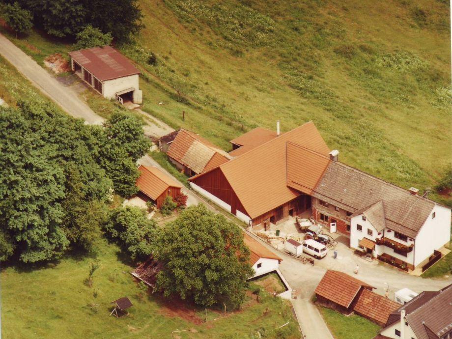 Luftbildaufnahme Bauernhof