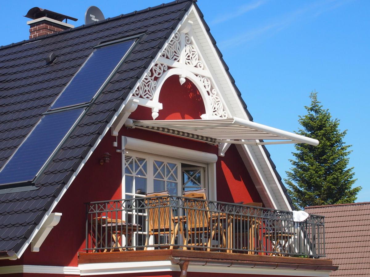 Ferienwohnung jolle fischland darss zingst zingst for Markise balkon mit sterne tapete die leuchtet