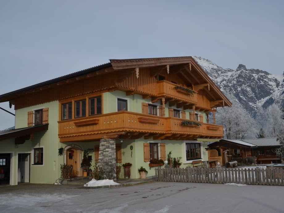 Ferienwohnung Scheiber in Leogang Winteransicht