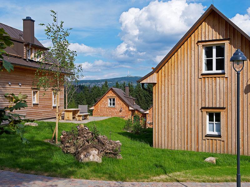 """Ferienhaus Typ """"Luchs"""" mit Kamin und Sauna"""
