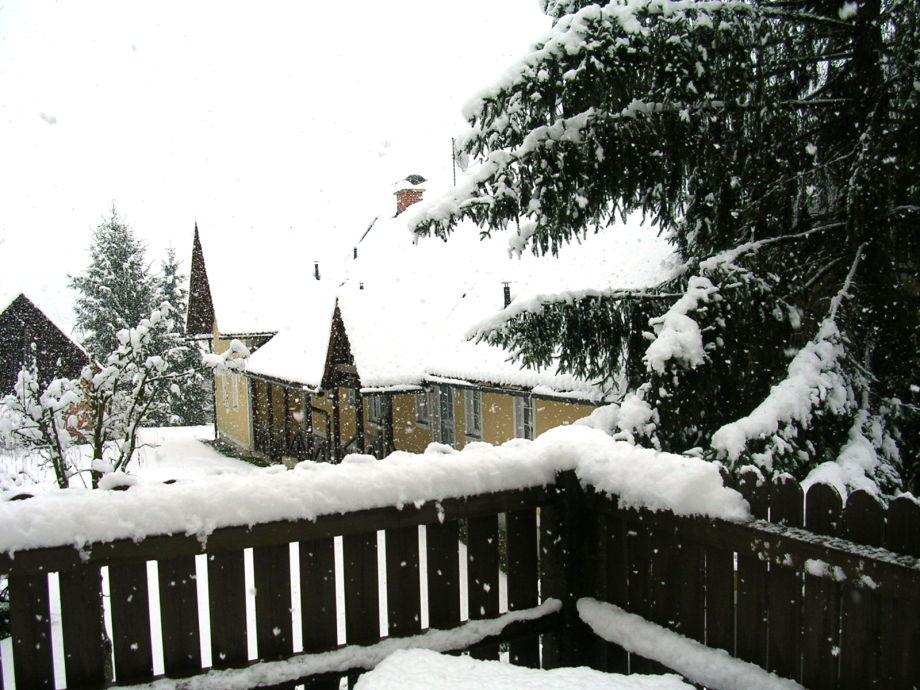 Der Eingang im Winter