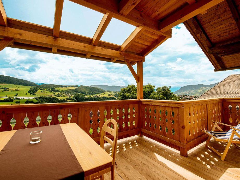 Terrassenbalkon mit Panoramablick