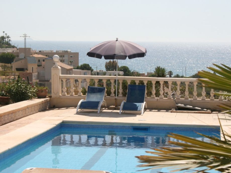 Magnificent pool terrace with sea view