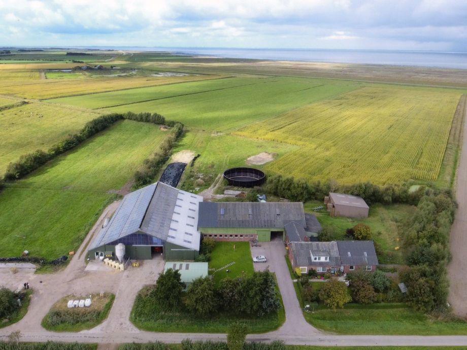 Luftaufnahme von unserem Bauernhof