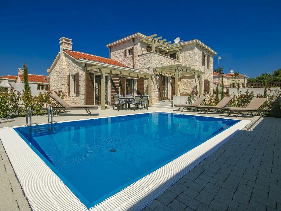 Luxury stone villa pool