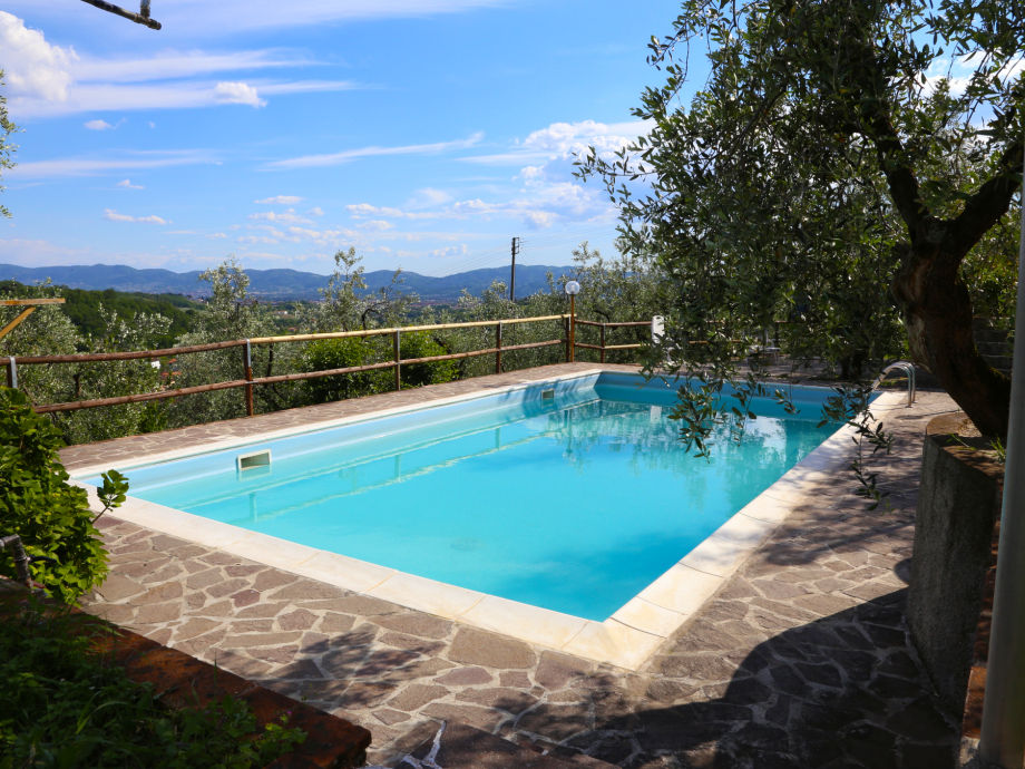 Large private pool with fantastic views