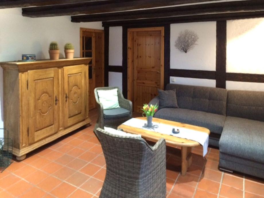 ferienwohnung storchensicht - fewo mit sauna, ostsee, rügen, Wohnzimmer