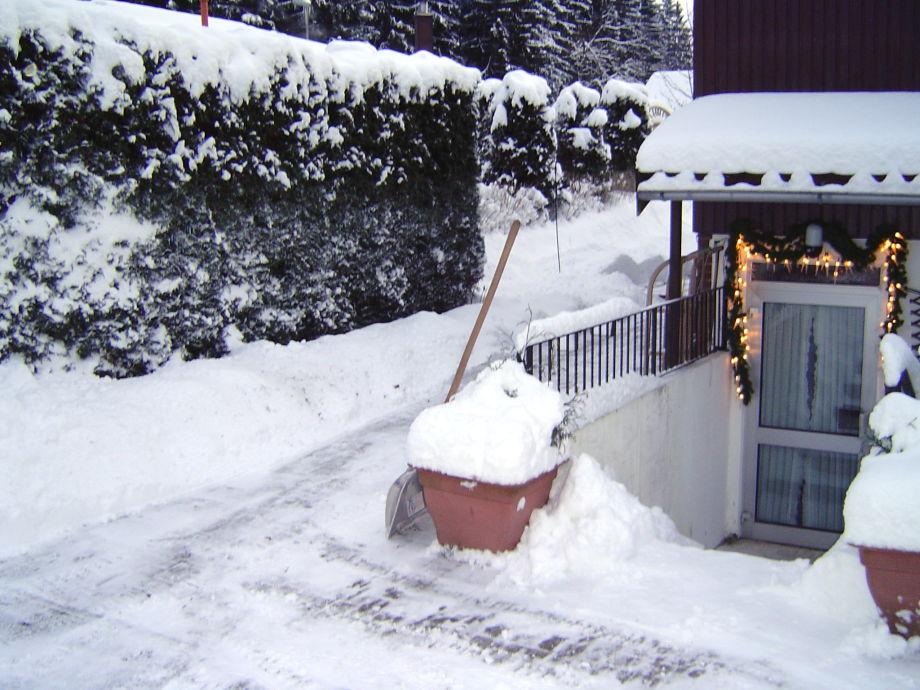 Schnee schieben wir !!