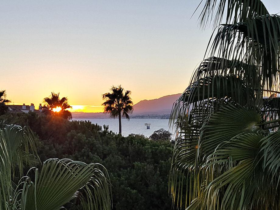Der Ausblick auf Marbella