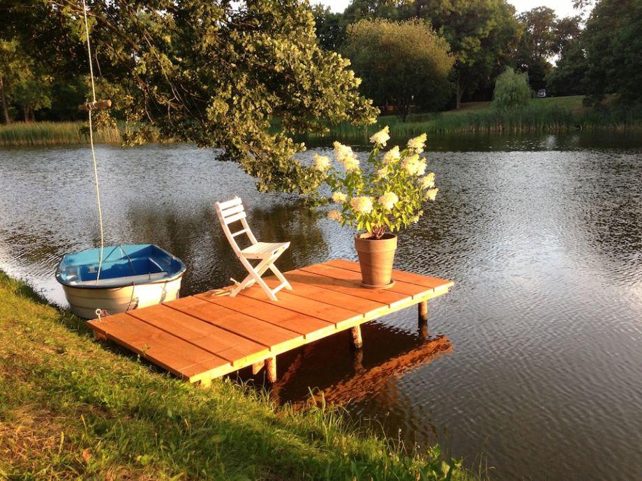 unser eigener Bootssteg