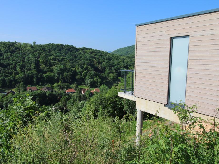 Terrasse mit Blick auf die Natur