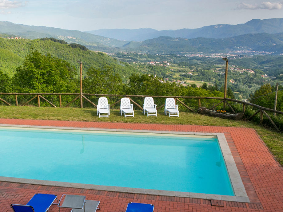 large pool with stunning views