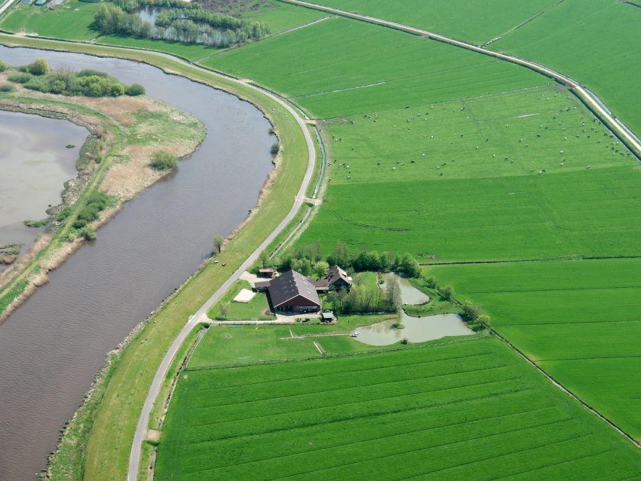 Luftbildaufnahme Deichhof