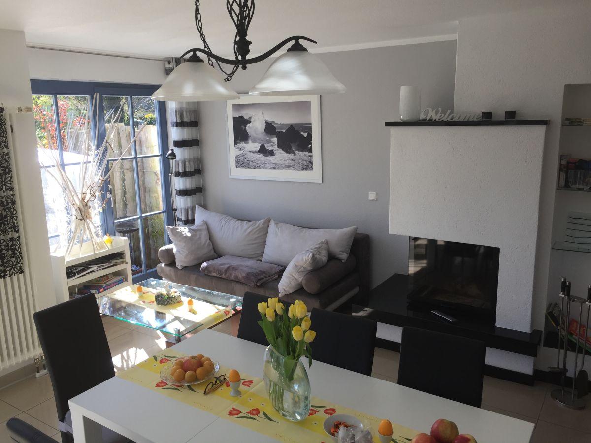 Ferienhaus haus hansi zingst firma ferienservice - Wohnzimmer mit offener kuche ...
