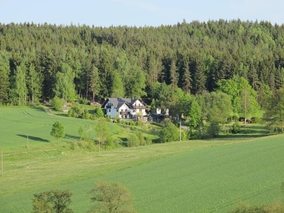 Unser Haus mit der Ferienwohnung Vogtlandblick