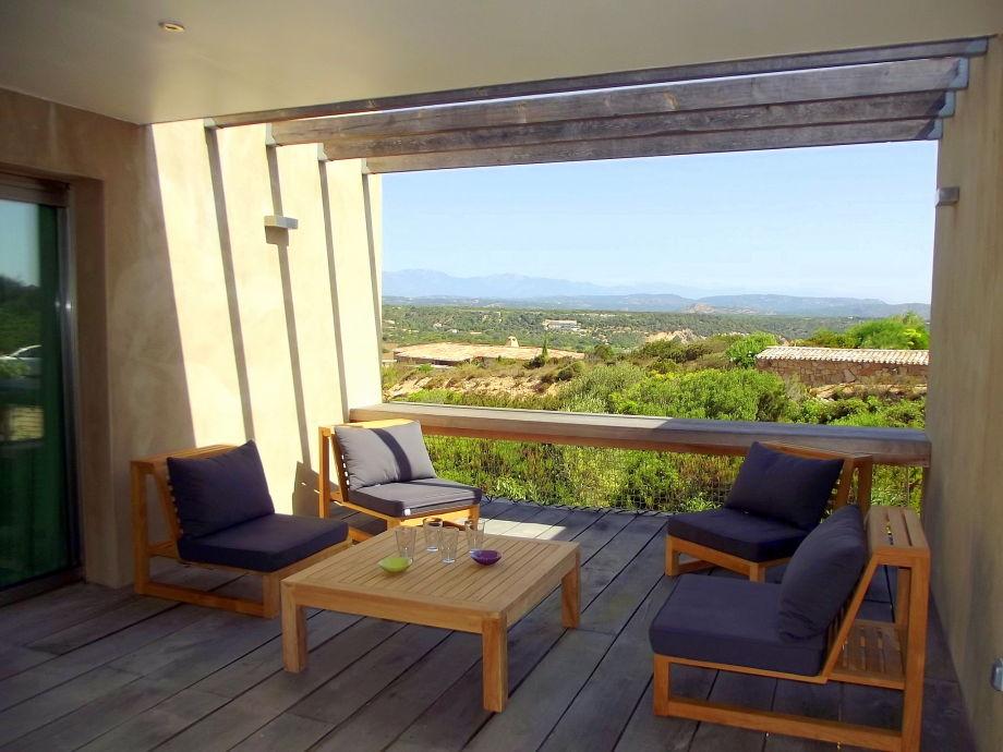 Outside lounge sea view