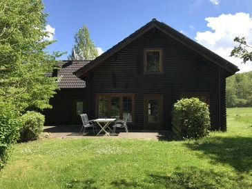 Holiday house blockhouse at lake Silbersee