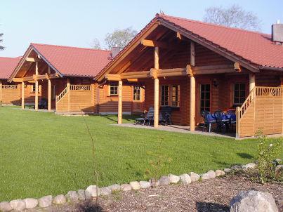 finnisches Blockhaus auf dem Ferienhof Edgar und Katja Muhl