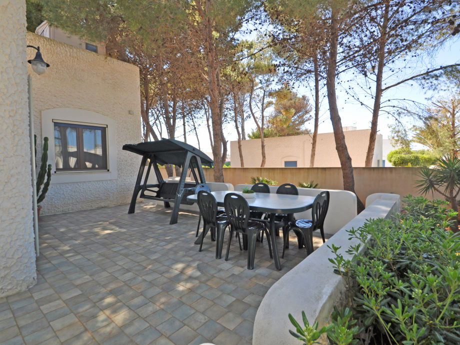 Garden with outdoor furniture