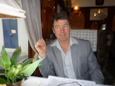 Your host Ian Tomlinson