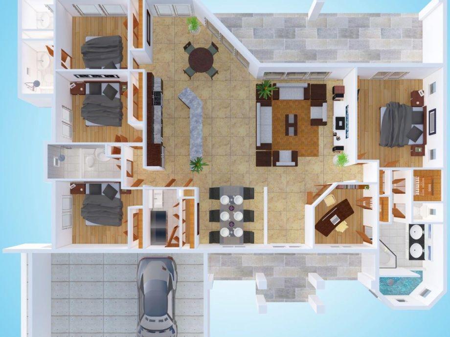 Traumvilla grundriss  Villa Kapalua, Cape Coral, Florida - Firma ONES Corp. - Herr ...