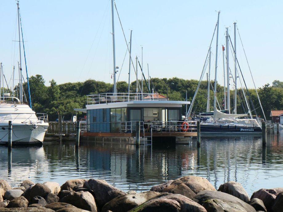 Außenaufnahme Ferienhaus/ Hausboot Fjordblick