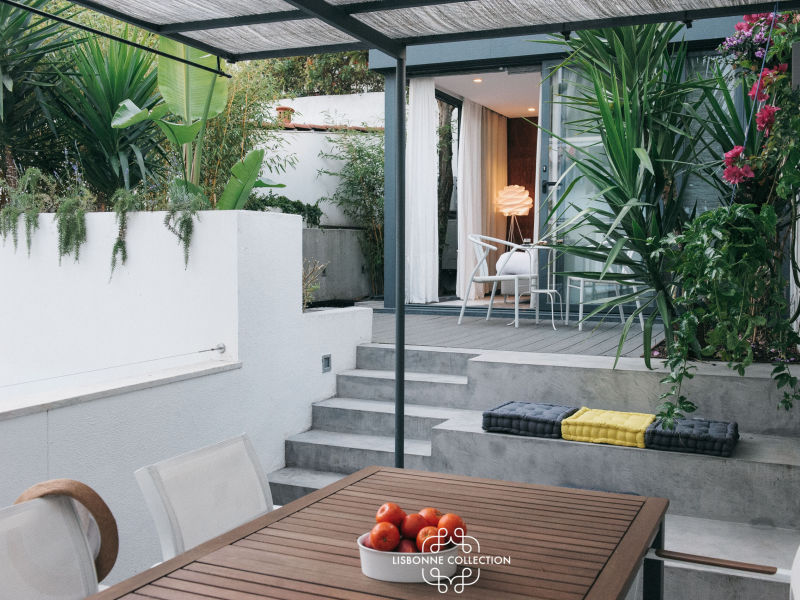 Ap52 - Geheimer Garten Apartment mit Terrasse im Stadtteil Estrela