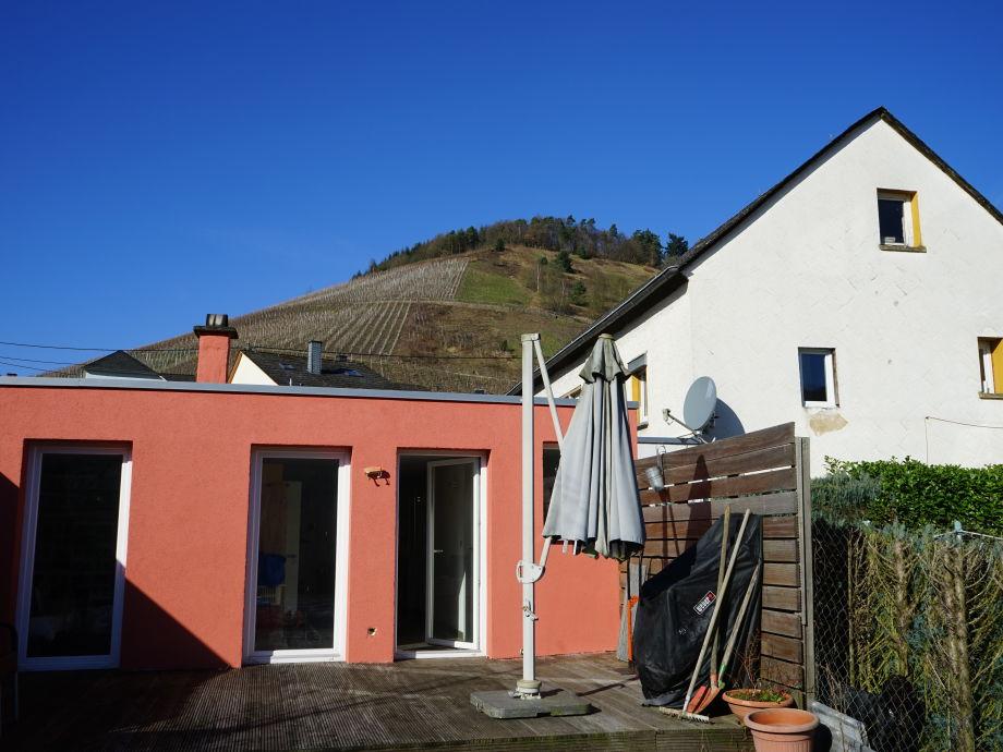 Terrasse zum Garten hin