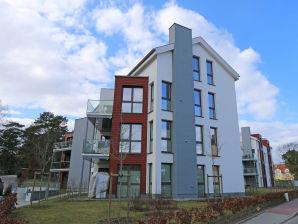 Ferienwohnung F.01 Strandvilla Baabe mit Meerblick und Balkon