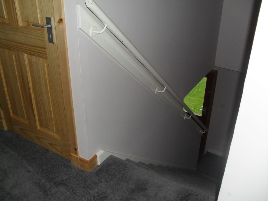 Stairway up to the Apartment from front door & Holiday apartment A MacKenzie Aultbea Ross-shire Scotland - Mr ...