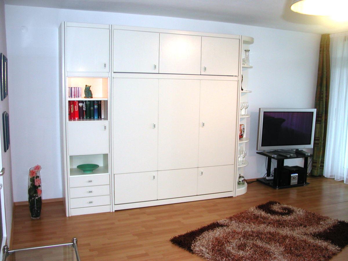 Toll Wohnzimmer   Wohnwand Mit Schrankbett
