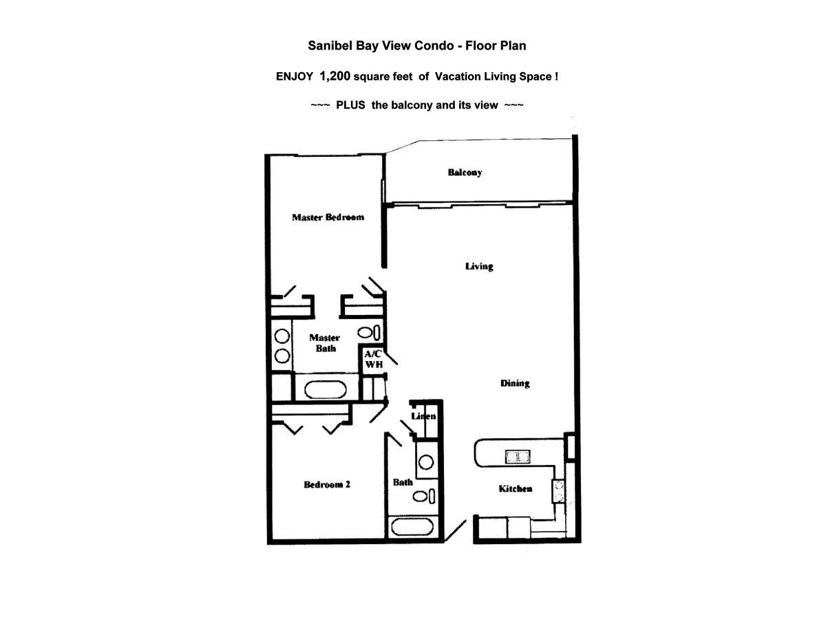 Waterview Condo Floor Plan Holiday Apartment Sanibel Bay View Condo Florida Ms