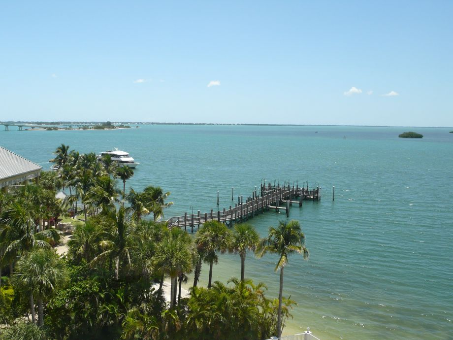 Blick vom Sanibel Bay View Condo zu Sanibel Island