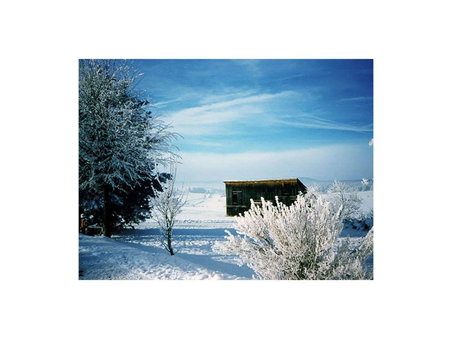 Winter - Loipen vor dem Haus
