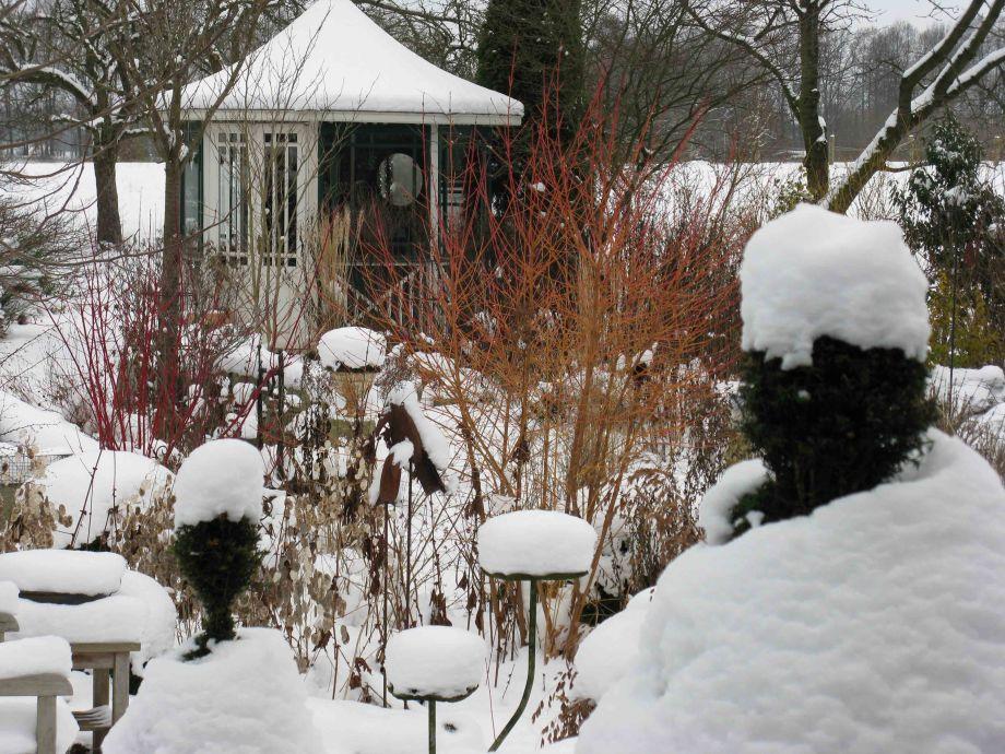 Ferienhaus ferienhof gester l neburger heide niedersachsen frau karin gester - Garten im winter ...