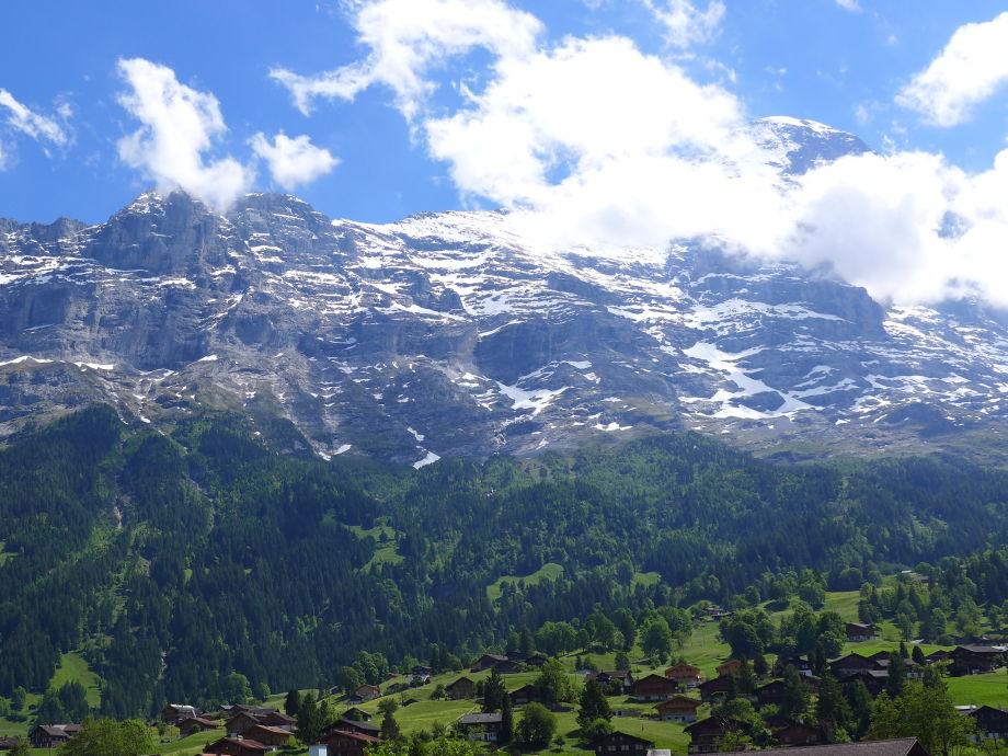View to Eiger mountain