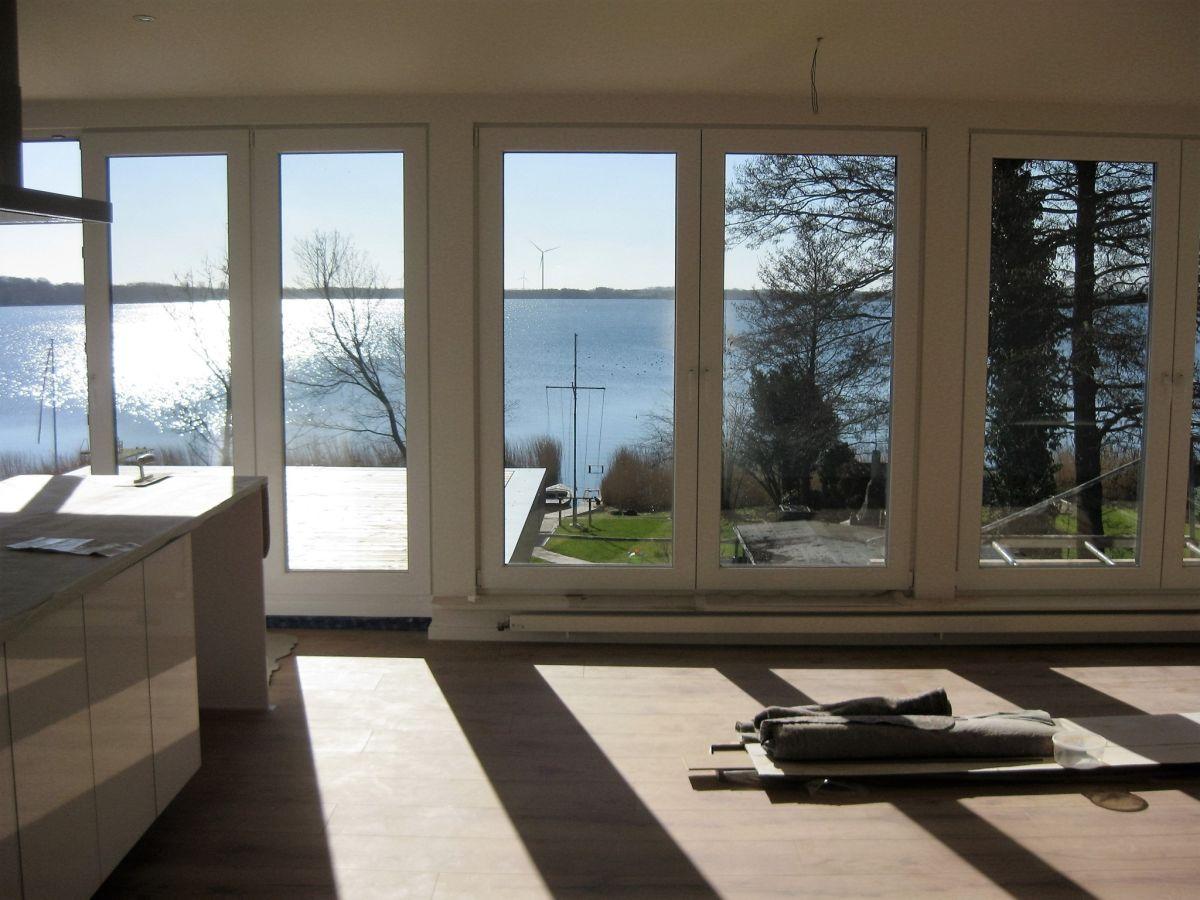 Wohnzimmer Hier Baustelle Bodentiefe Fenster Zum See