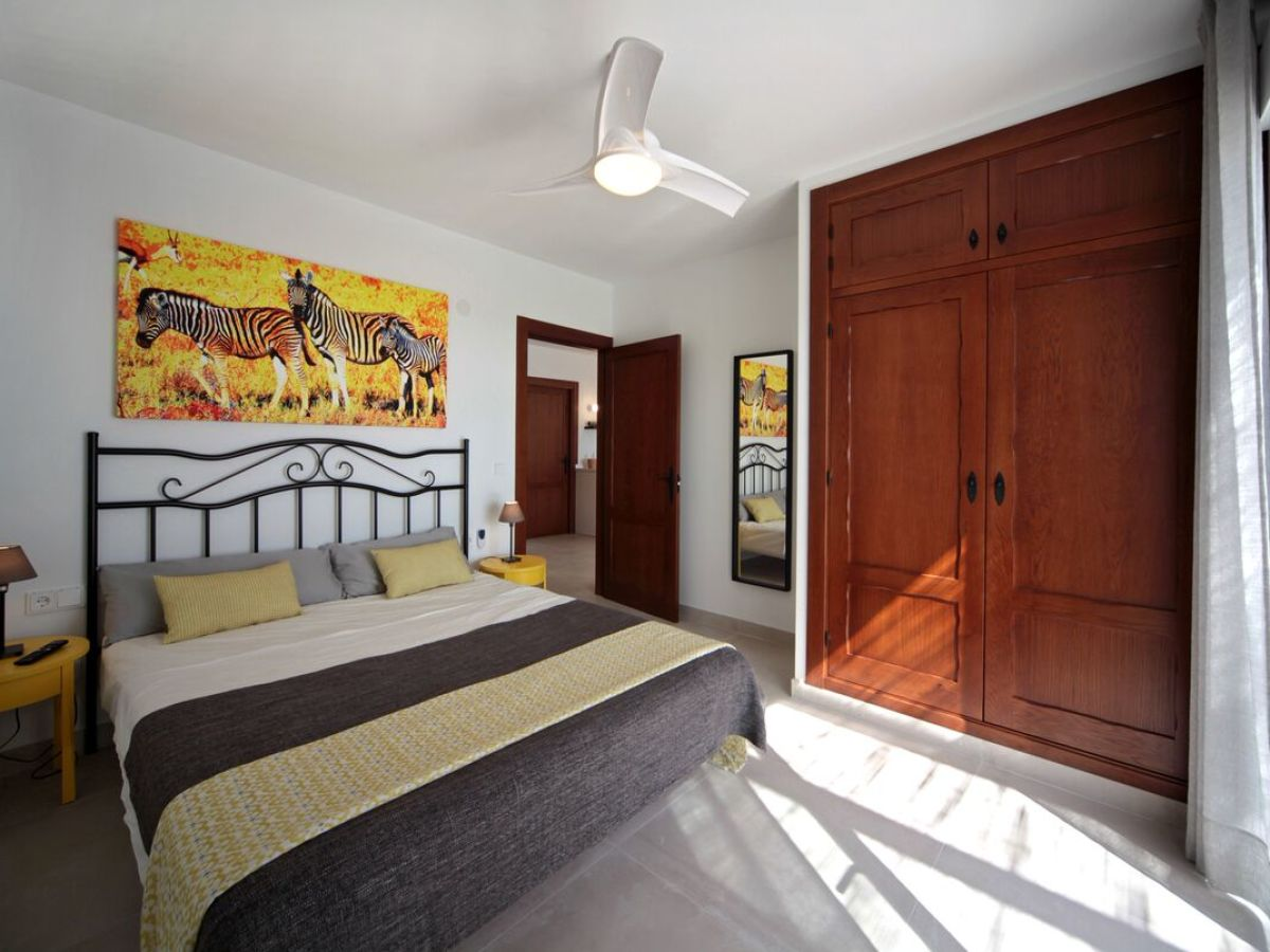 Schlafzimmer Ventilator Apartment Casa Gran Terraza Costa Sol Nerja Frau