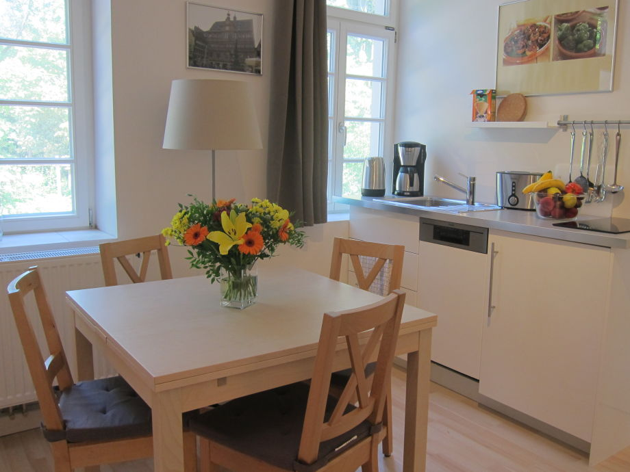 kitchenette and dining table for 4 -6 persons