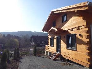 5-Sterne Blockhaus Panorama Hütte Ferienhaus