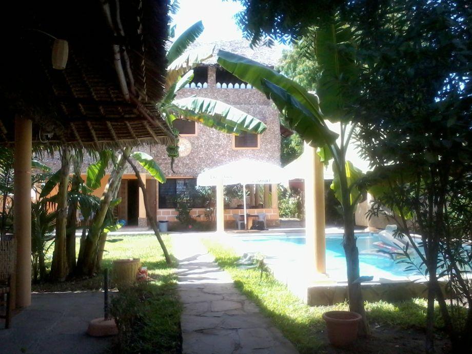 Tropischer Garten mit Pool 12Mtr.x 6Mtr