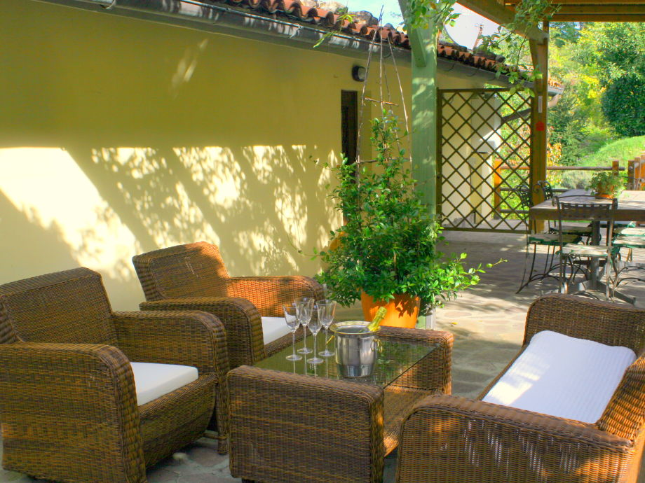 Relax in the patio with a coffee or a glass of prosecco