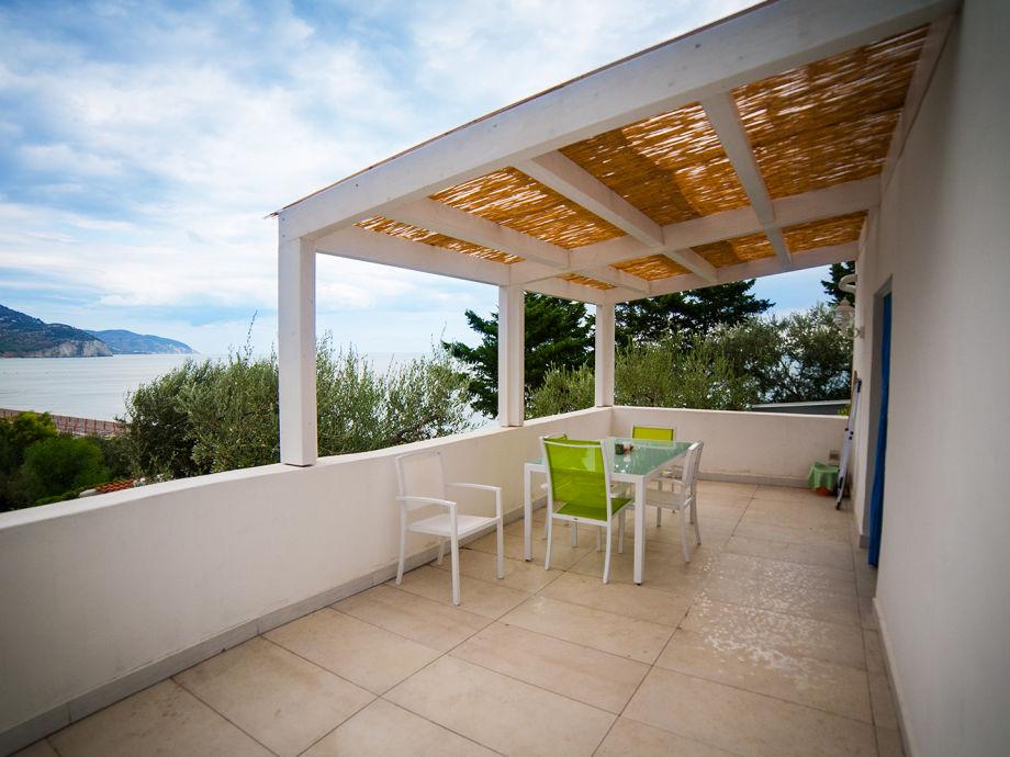 Die Terrasse mit Meerblick