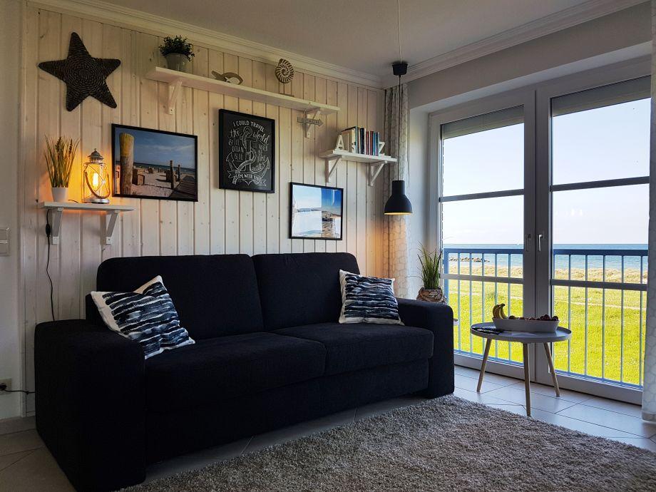 Couch Wohnbereich Ferienwohnung Buhne 22