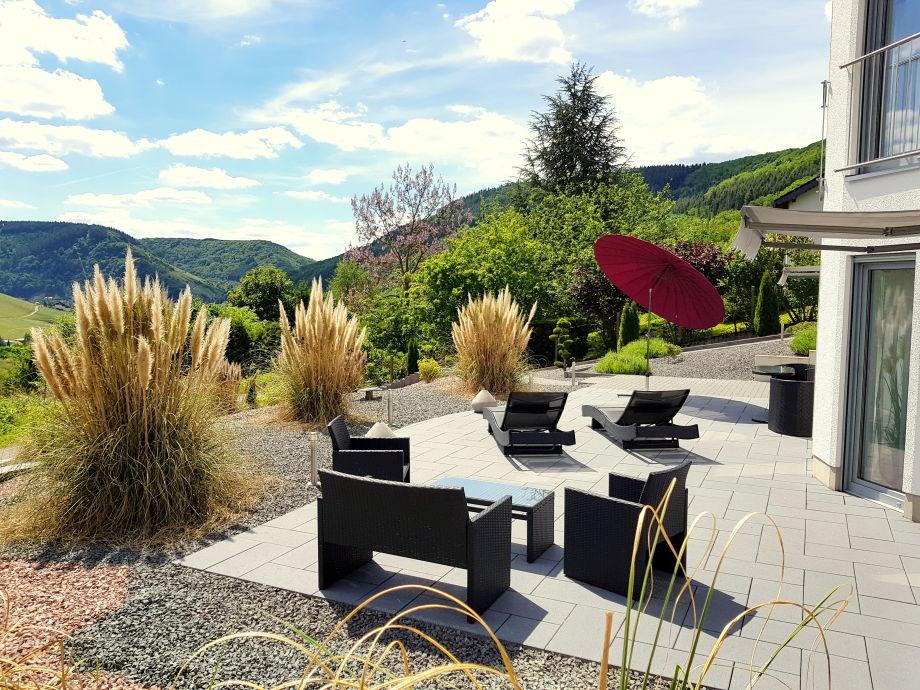 Terrassenansicht Ferienwohnung