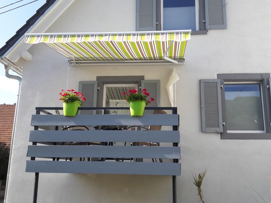 Ferienwohnung cibis kaiserstuhl herr frank cibis for Markise balkon mit tapeten von hammer