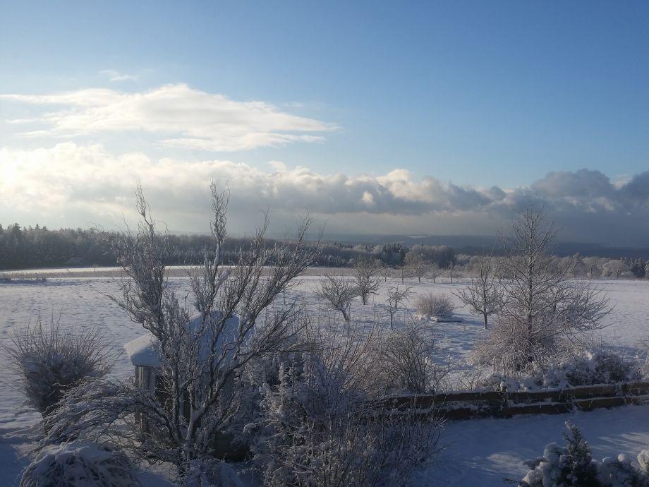Winterlandschaft aus einem unserer Zimmer