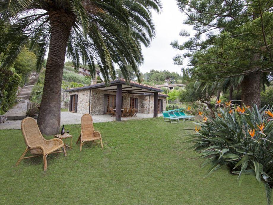 Der große Garten der Villa La Gaia.