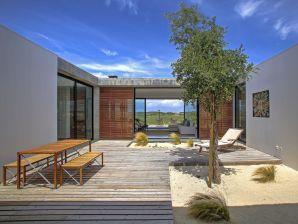 Exklusive Designvilla in Dünenlage am Meer, Dachterrasse mit Pool